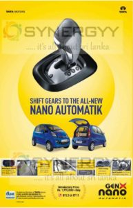 Tata Nano Automatik now available in Sri Lanka for Rs. 1,975,000/-