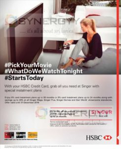 20% off and 0% Instalment plan for HSBC Credit card at Singer