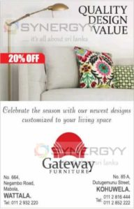 20% off  from Gateway Furniture