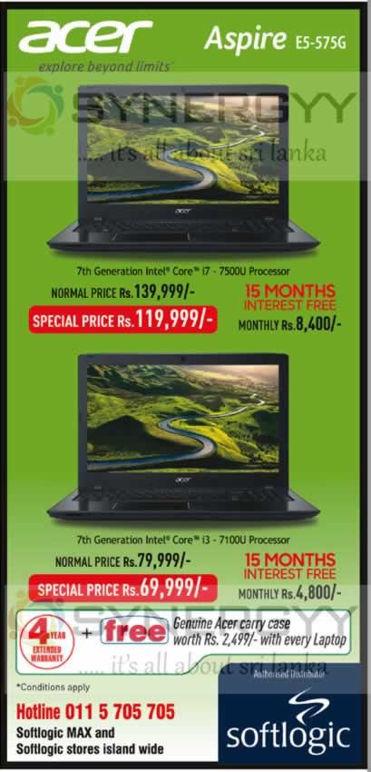 Acer Laptops from Softlogic