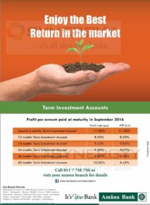Amana Bank Fixed Deposit (Term Investment Accounts)