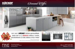 Bosch Oven, Microwave & Hob Free with Hacker Kitchen from Fine Furniture