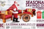 E.H. Cooray & Sons Furniture Sale – till 4th January 2017