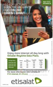 Etisalat Internet Packages in Sri Lanka