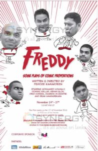 Freddy – some plays of Comic Proportions on 24th to 27th Nov 2016