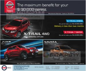 Nissan SUV's Permit Holder Prices November 2016