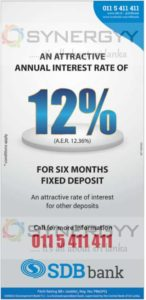 Sanasa Development Bank 6 months Fixed Deposits Interest Rate – 12% PA