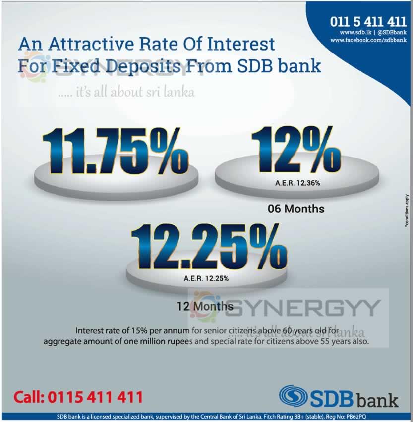 Sanasa Development Bank (SDB) Fixed Deposits Interest rates « SynergyY
