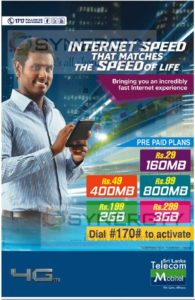 Sri Lanka Mobitel Prepaid data plan