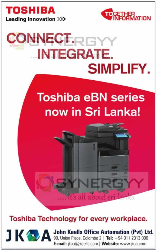 Toshiba eBN Series Now in Sri Lanka