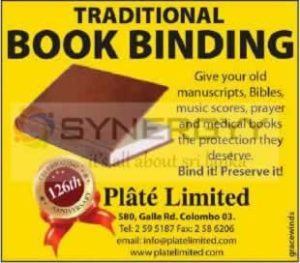 Traditional Book Binding from Plate