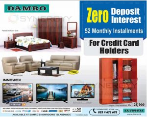 52 Month Interest Free Installment from Damro