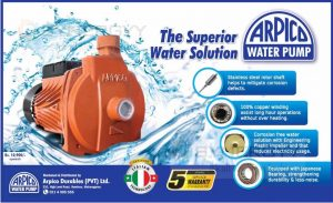 Arpico Water Pump for Rs. 10,900/- upwards