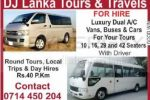 DJ Lanka Tours & Travels – Rs. 40 per Km