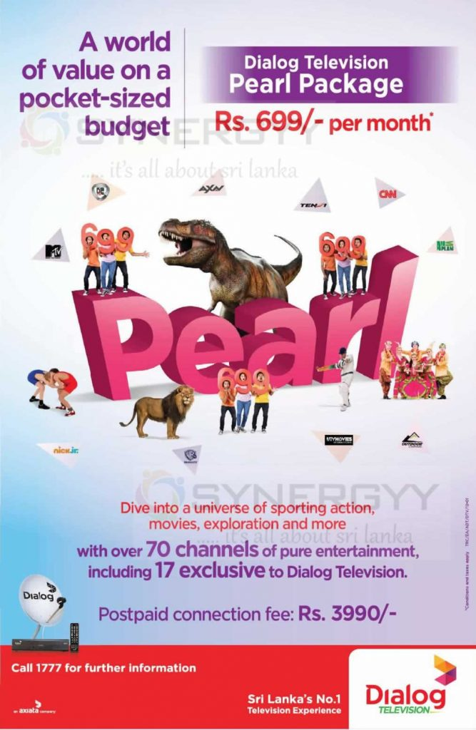 Dialog TV Pearl Package – Rs. 699/- Only