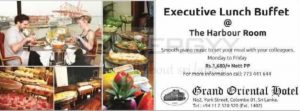 Executive Lunch Buffet @ The Harbour Room, Grand Oriental Hotel