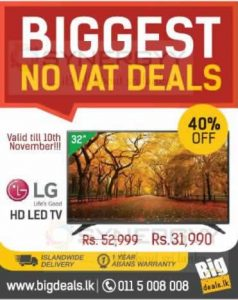 LG HD LED TV for Rs. 31,990.00 from BigDeal.lk