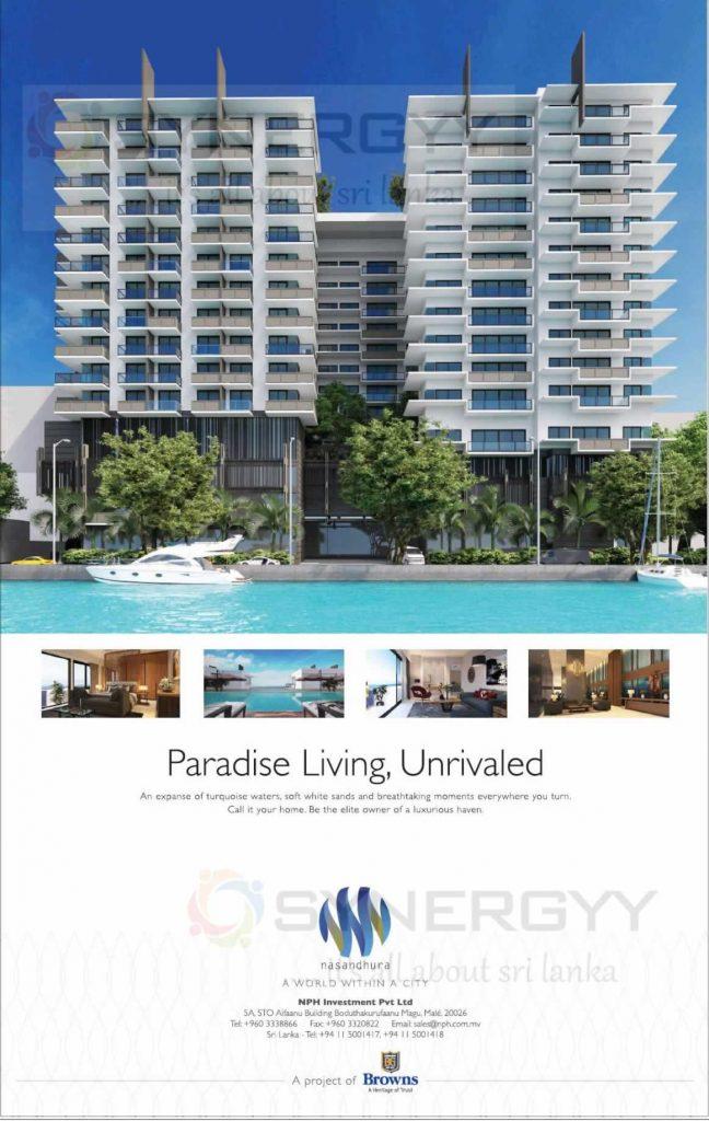Nasandhura Condominium Apartment in Maldives by Browns Group