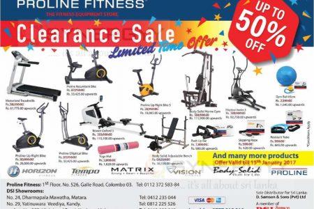 Proline Fitness equipments Clearance Sale in Sri Lanka