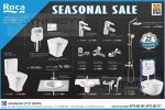Roca Seasonal Sale doe Bathroom Fittings