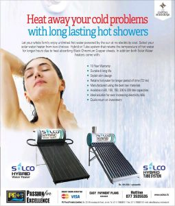 Solar Power Hot Water Shower from PE Plus (Pvt) Ltd