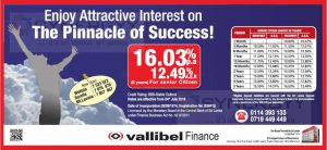 Vallible Finance Fixed Deposits Interest Rate – 16.03% per Annum