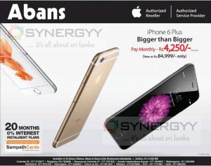 Apple iPhone 6 Plus for Rs. 84,999- from Abans