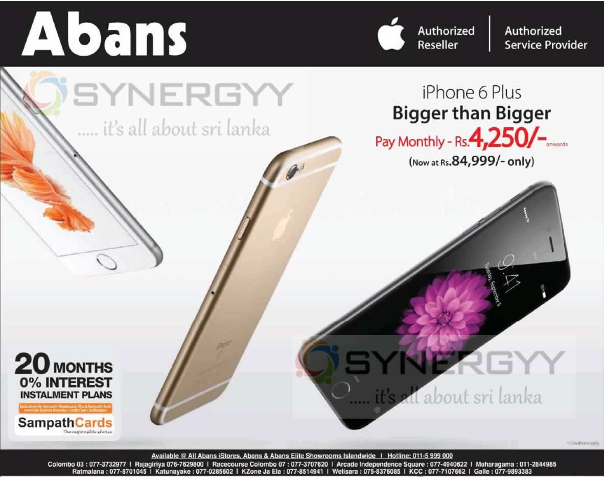 Apple Iphone 6 Plus For Rs 84 999 From Abans 171 Synergyy