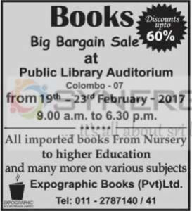 Big Bargain Books Sale at Public Library Colombo 07