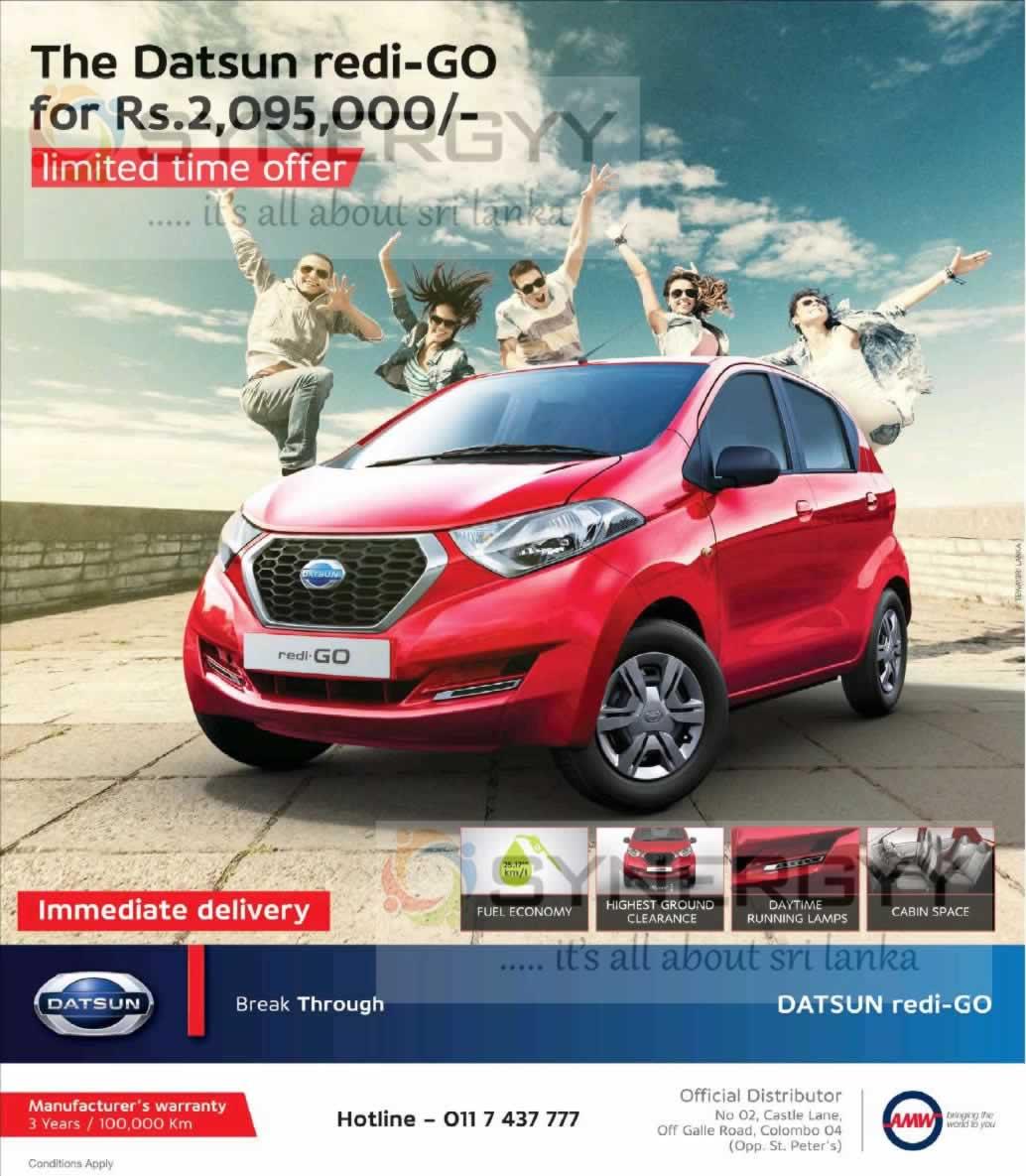 Datsun redi-GO Price in Sri Lanka – Rs. 2,095,000- « SynergyY