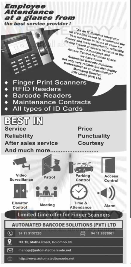 Employee Attendance Solution from Automated Barcode Solutions – SynergyY