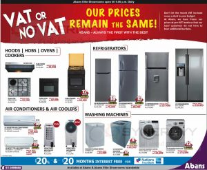 Kitchen Appliances, Refrigerators, Air Conditioners and Washing Machine Prices from Abans