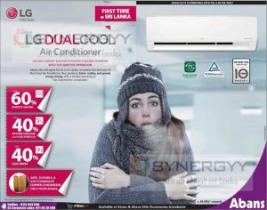 LG Dualcool Air Conditioner for Rs. 89,990- Upwards