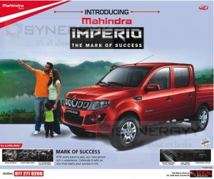 Mahindra Imperio Sri Lanka Price - Rs. 3,550,000 upwards from Ideal Motors