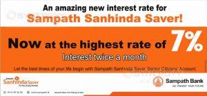 Samoath Sanhinda Saver – 7% Interest rate for Saving Account