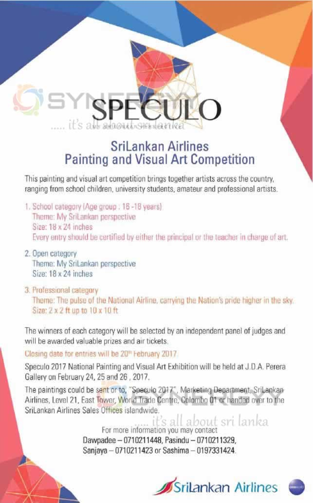 Srilankan Airlines Painting And Visual Art Competition 171 Synergyy