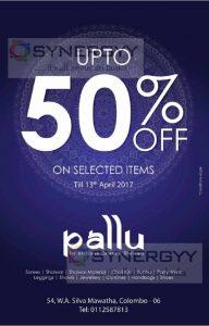 50% off at Pallu