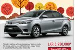 All new Toyota Yaris available in Sri Lanka; Price starts from Rs. 5,950,000/-