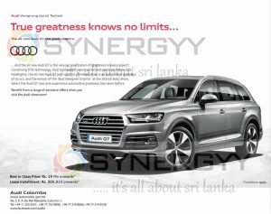 Audi Q7 Price in Sri Lanka – Rs. 19Million from Audi Colombo