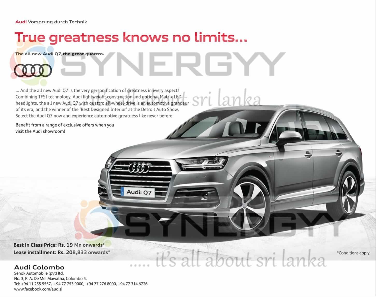 Audi Q Price In Sri Lanka Rs Million From Audi Colombo - Audi car price in sri lanka