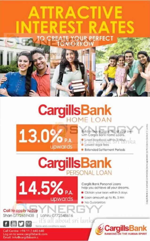 Cargills Bank Loan – 13% Upwards