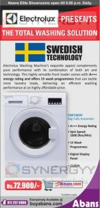 Electrolux Washing Machine Price in Sri Lanka – Rs. 72,900/-
