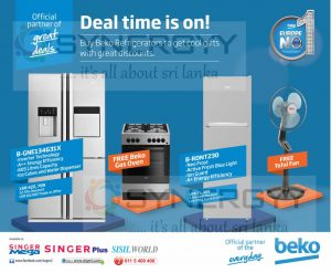 Free Gas Oven & Free Table Fan with Beko Refrigerators