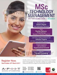 MSc Technology Management by APIIT