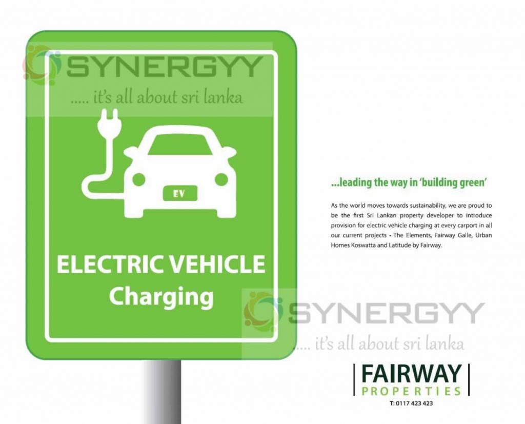 Provision for Electric vehicle charging at every car point by Fairway Properties