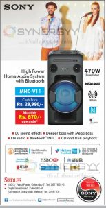 Sony High Power Home Audio System with Bluetooth for Rs. 29,990-