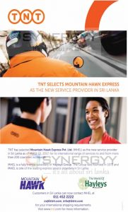 TNT & Mountain Hawk Express in Sri Lanka by Hayleys