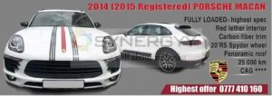 2014 (2015 Registered) Porsche Macan