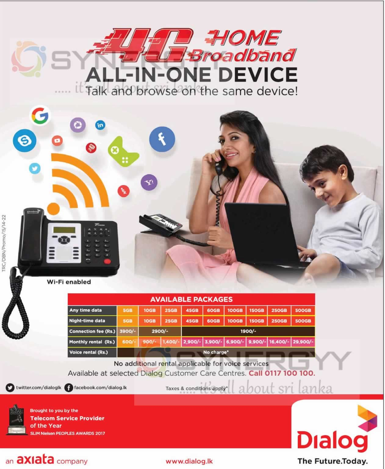 Dialog 4g Home Broadband All In One Device Rental