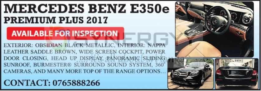 Mercedes Benz E350e Premium Plus 2017 for sale